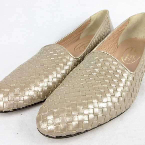 e07d4d1909b2c Vintage 1960s Italian Leather Silver Loafers, 6